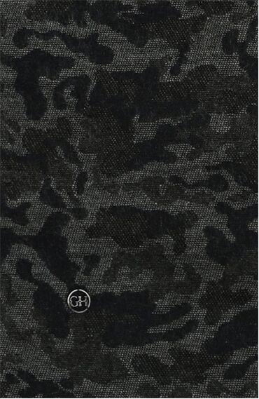 Desenli Siyah Gri Atkı