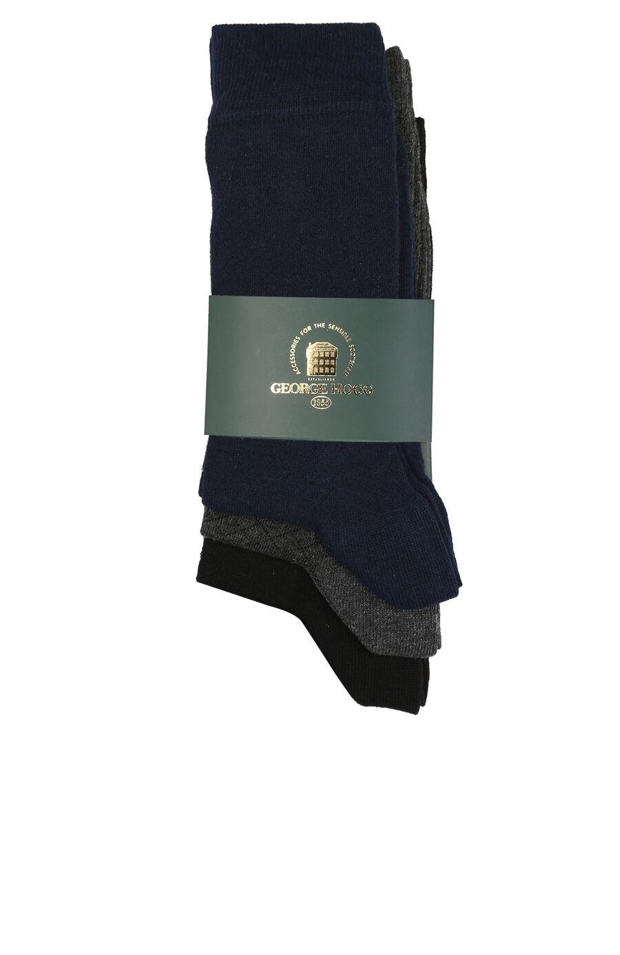 Desenli Siyah 3lü Erkek Çorap Seti
