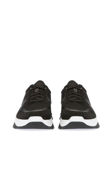 Kalın Taban Siyah Erkek Sneaker