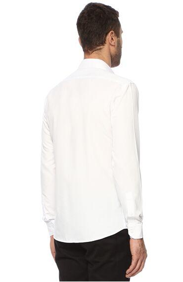 Balenli Beyaz Gömlek