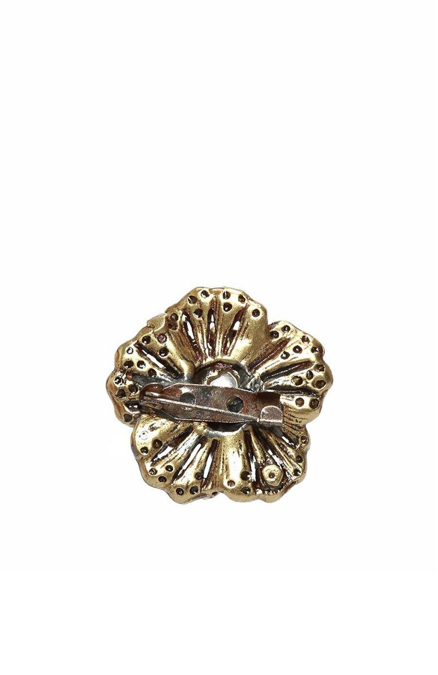Çiçek Altın Rengi Kadın Broş