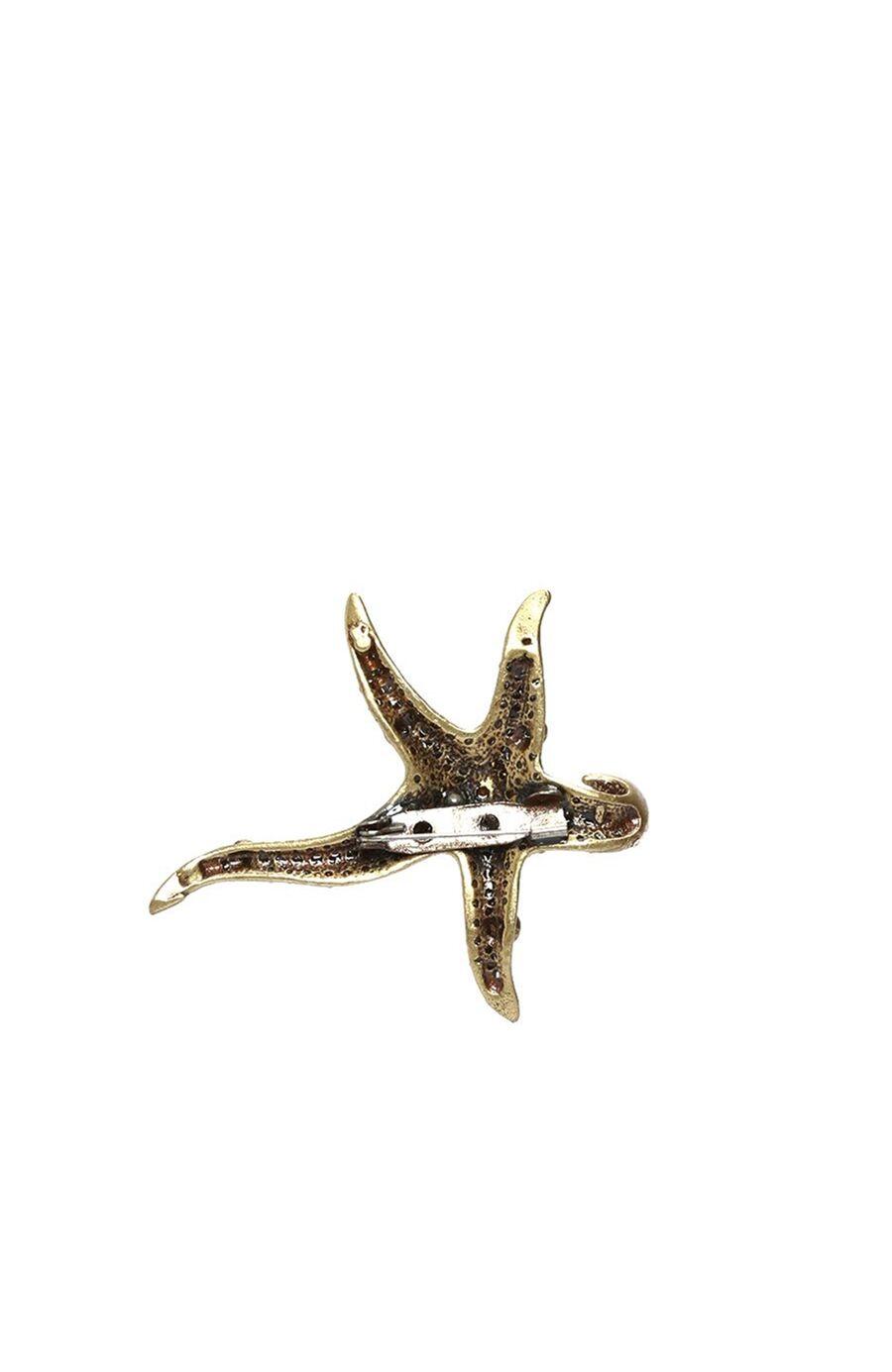 Deniz Yıldızı Altın Rengi Kadın Broş