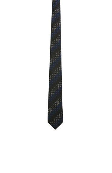 Siyah Mikro Desenli Kravat