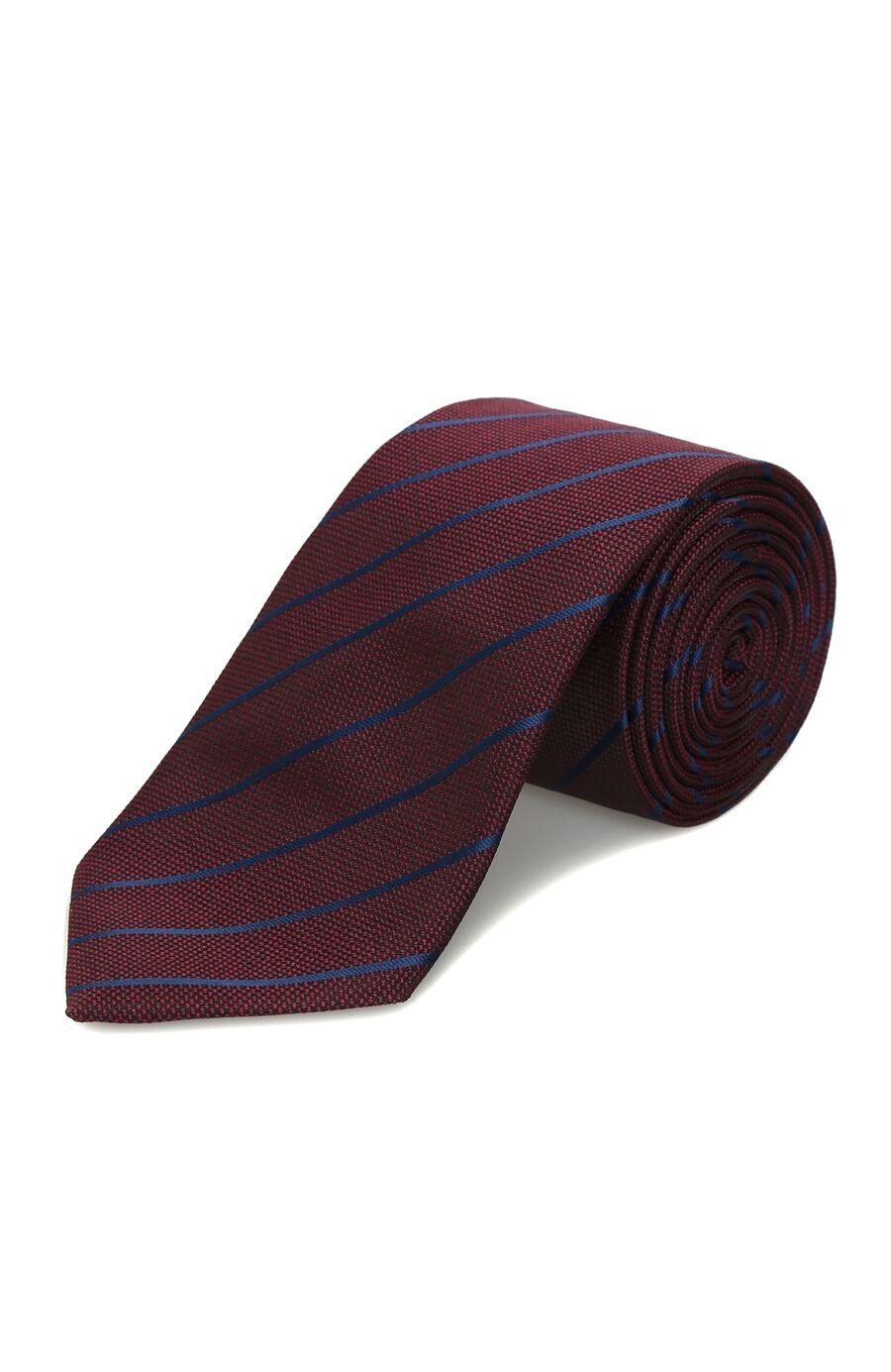 Bordo Verev Çizgili Kravat