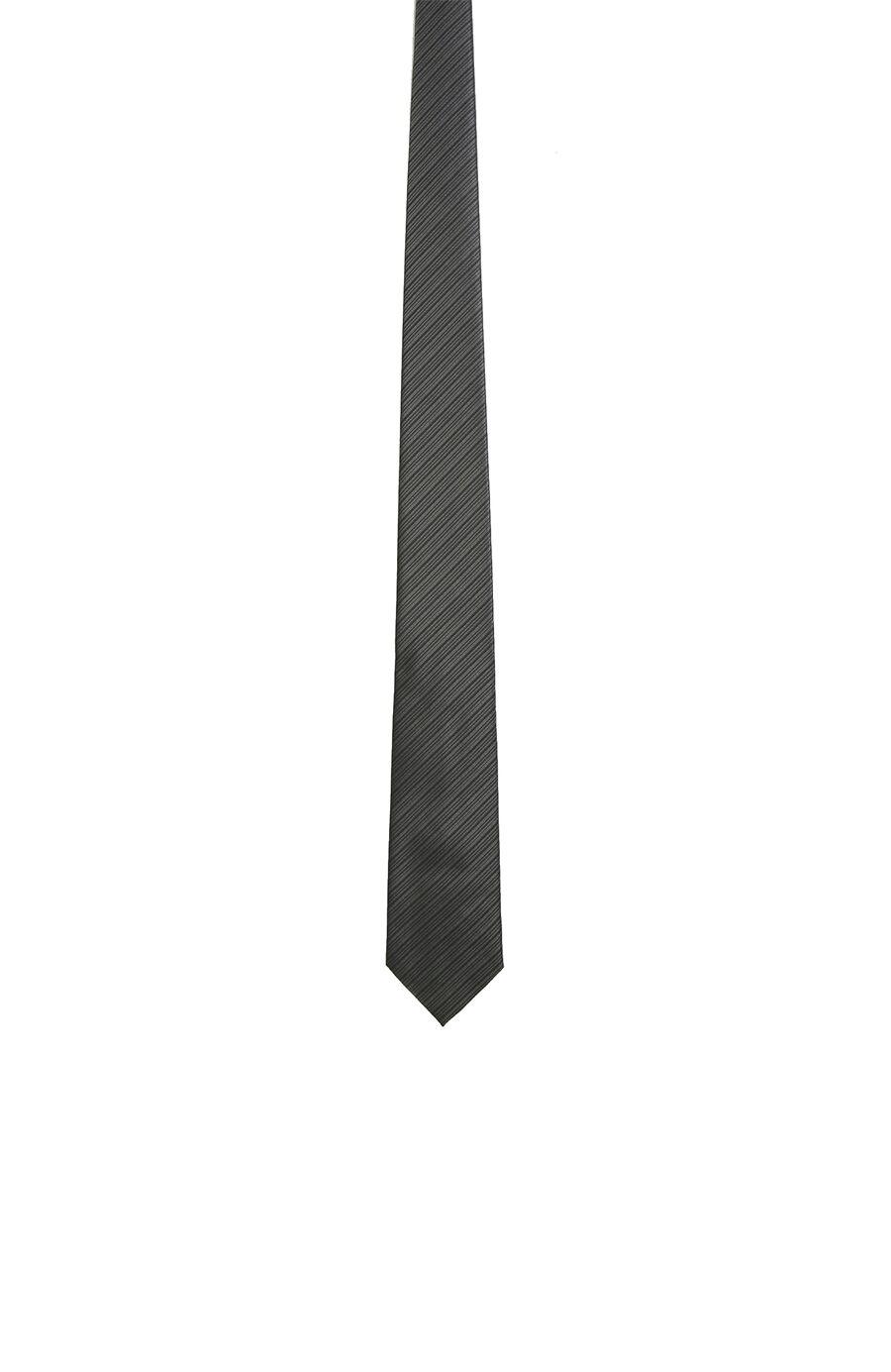 Gri Verev Çizgili Kravat