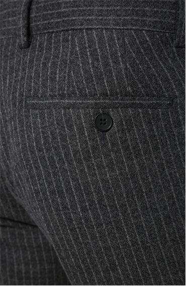 Çizgili Siyah Gri Pantolon
