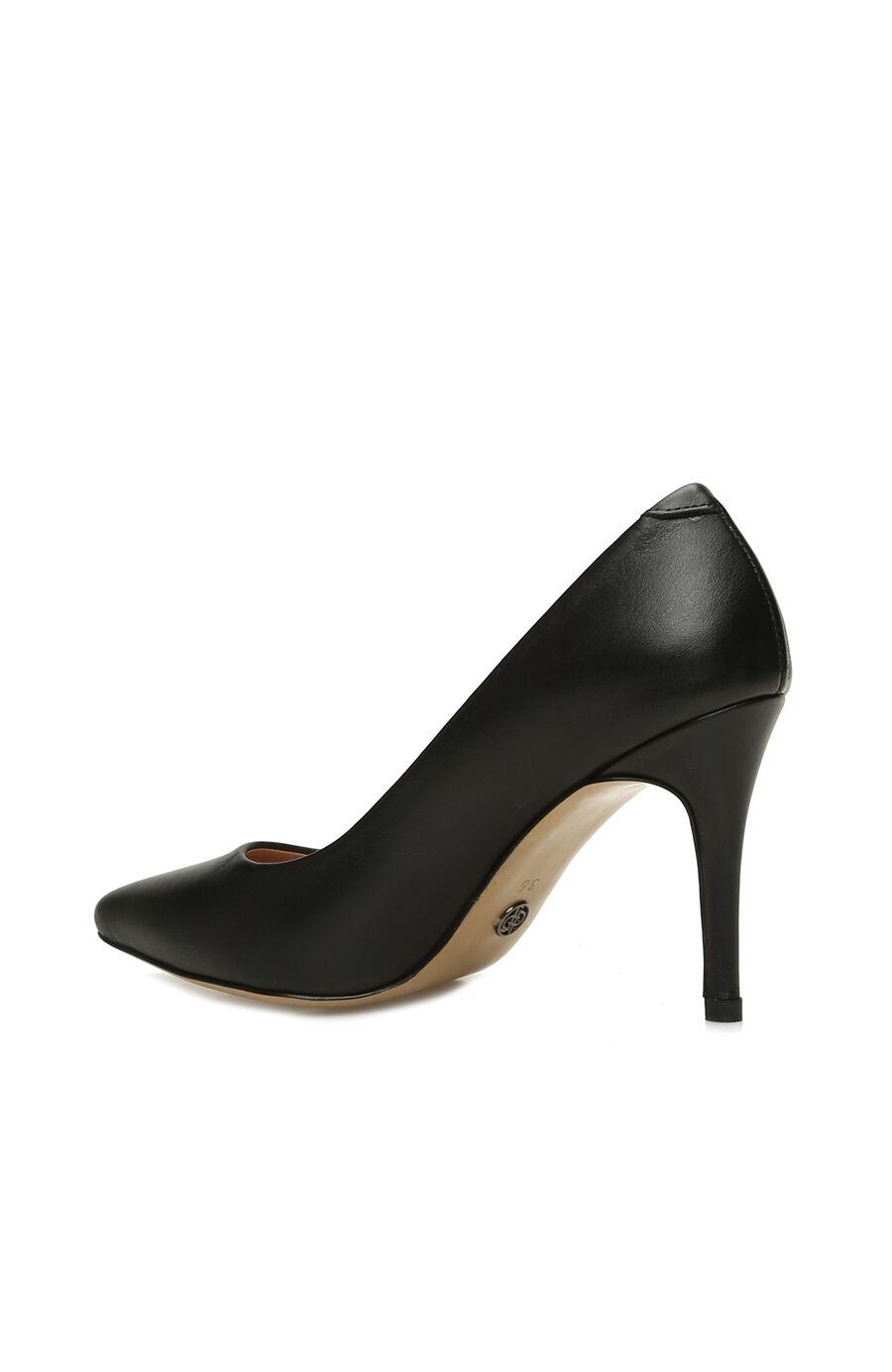 Kadın Siyah Deri Stiletto