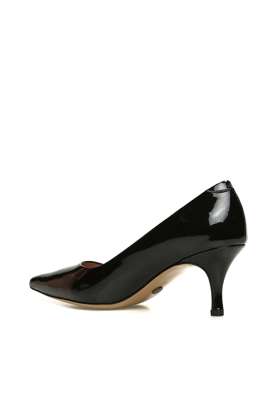 Kadın Siyah Rugan Topuklu Ayakkabı