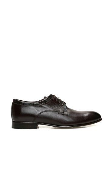 Kahverengi Bağcıklı Deri Erkek Ayakkabı