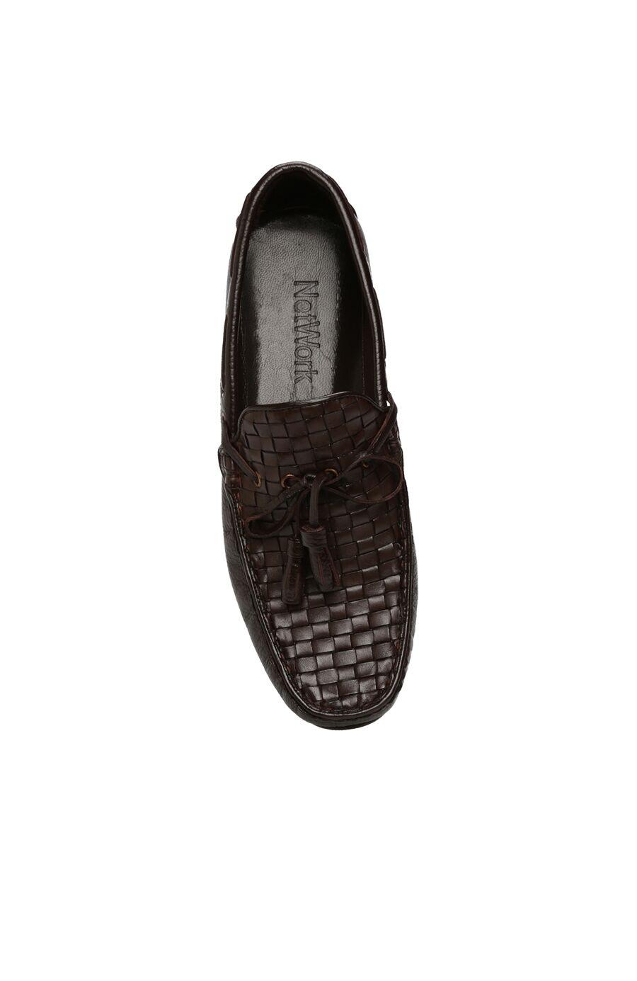 Kahverengi Deri Erkek Loafer