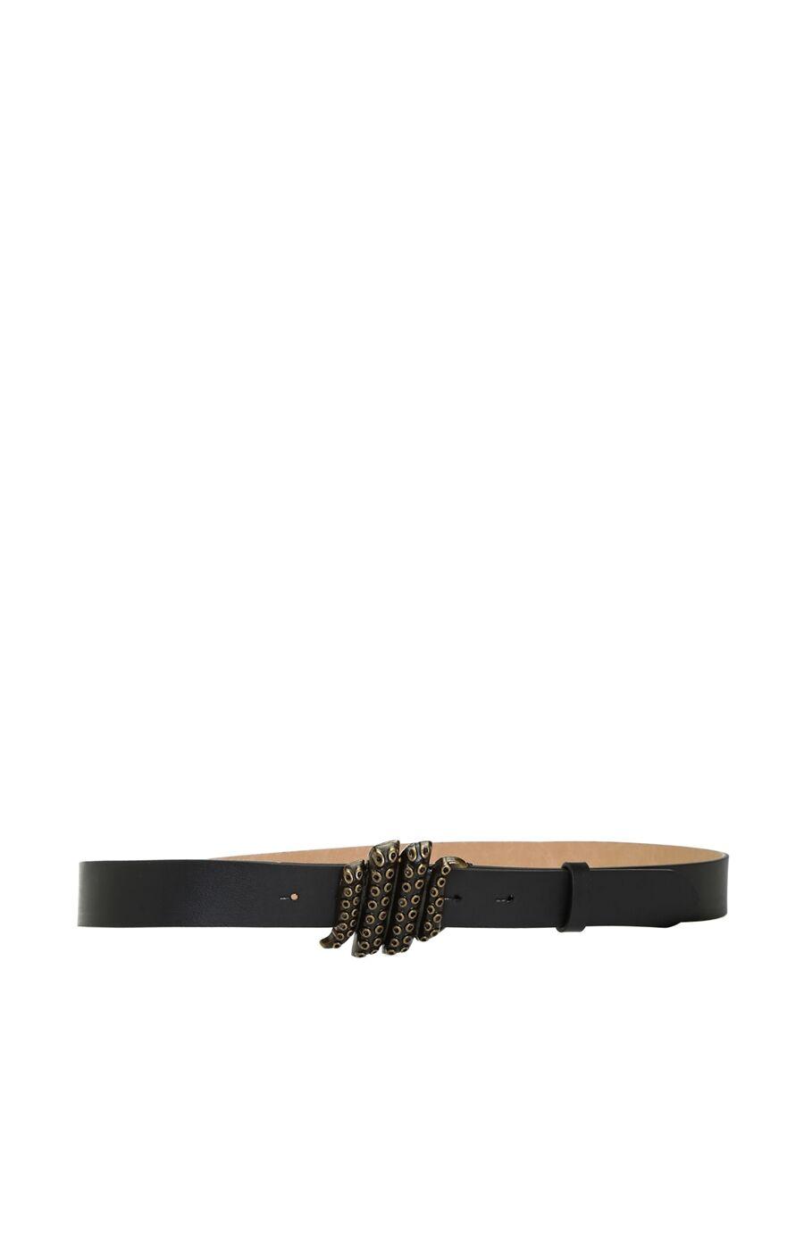 Ahtapot Tokalı Siyah Kadın Kemer