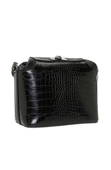 Kroko Siyah Çanta