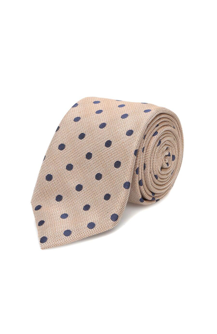 Bej Puantiyeli Erkek Kravat