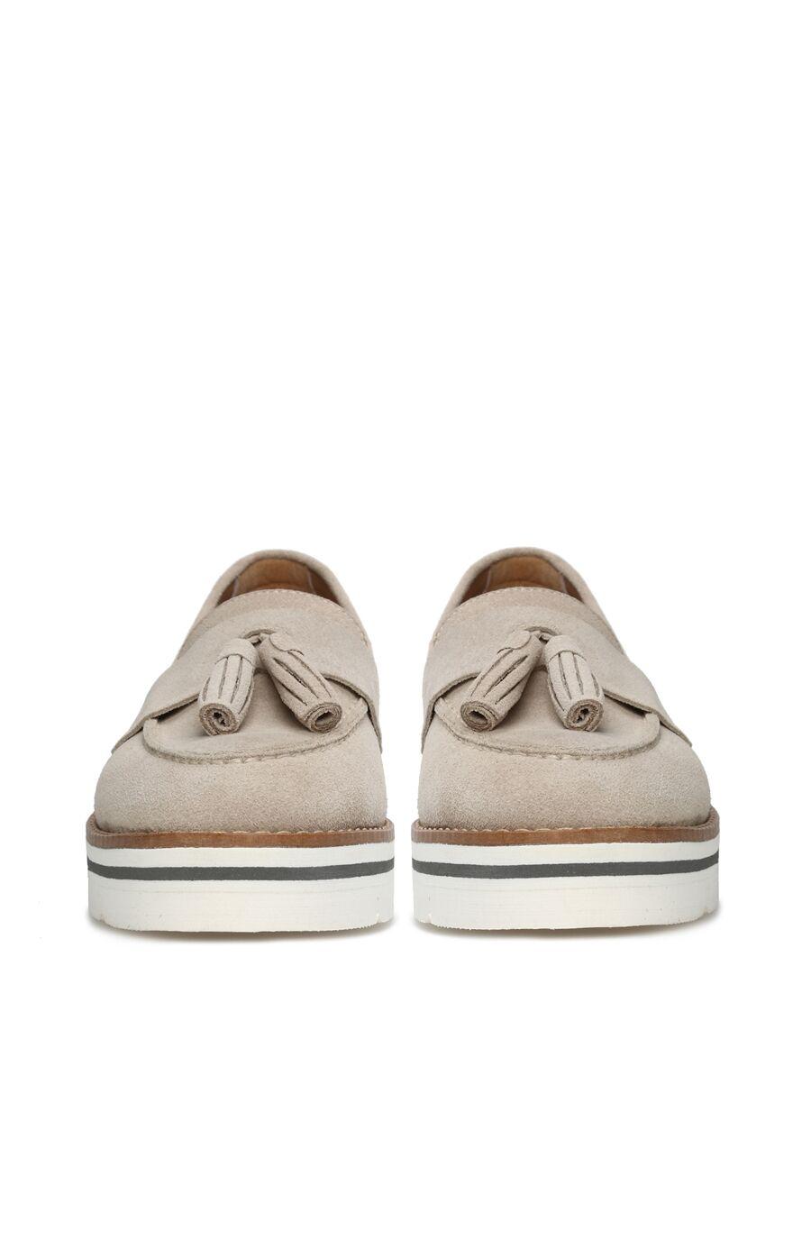 Bej Süet Kadın Ayakkabı