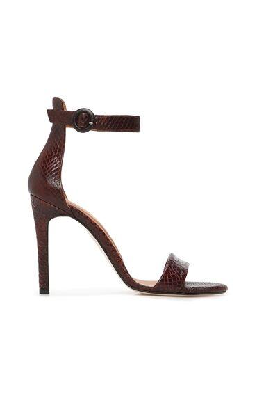 Kroko Taba Kadın Sandalet