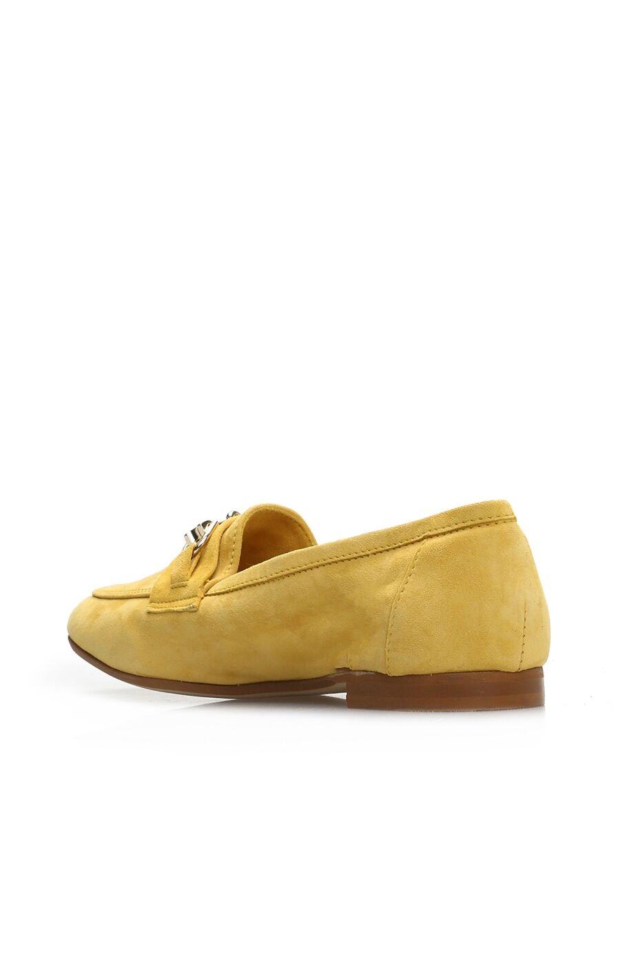 Sarı Süet Kadın Loafer