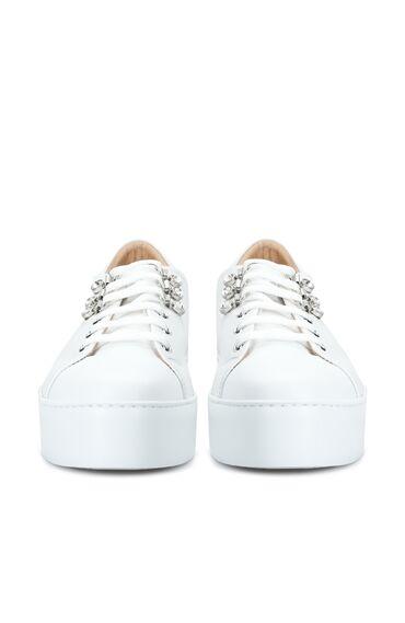 Beyaz Kadın Deri Sneaker