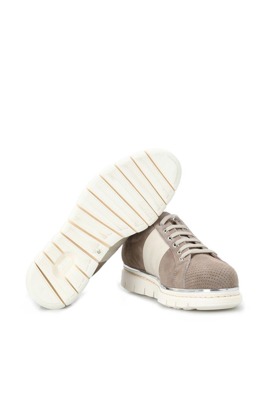 Vizon Delik Dokulu Kadın Süet Ayakkabı