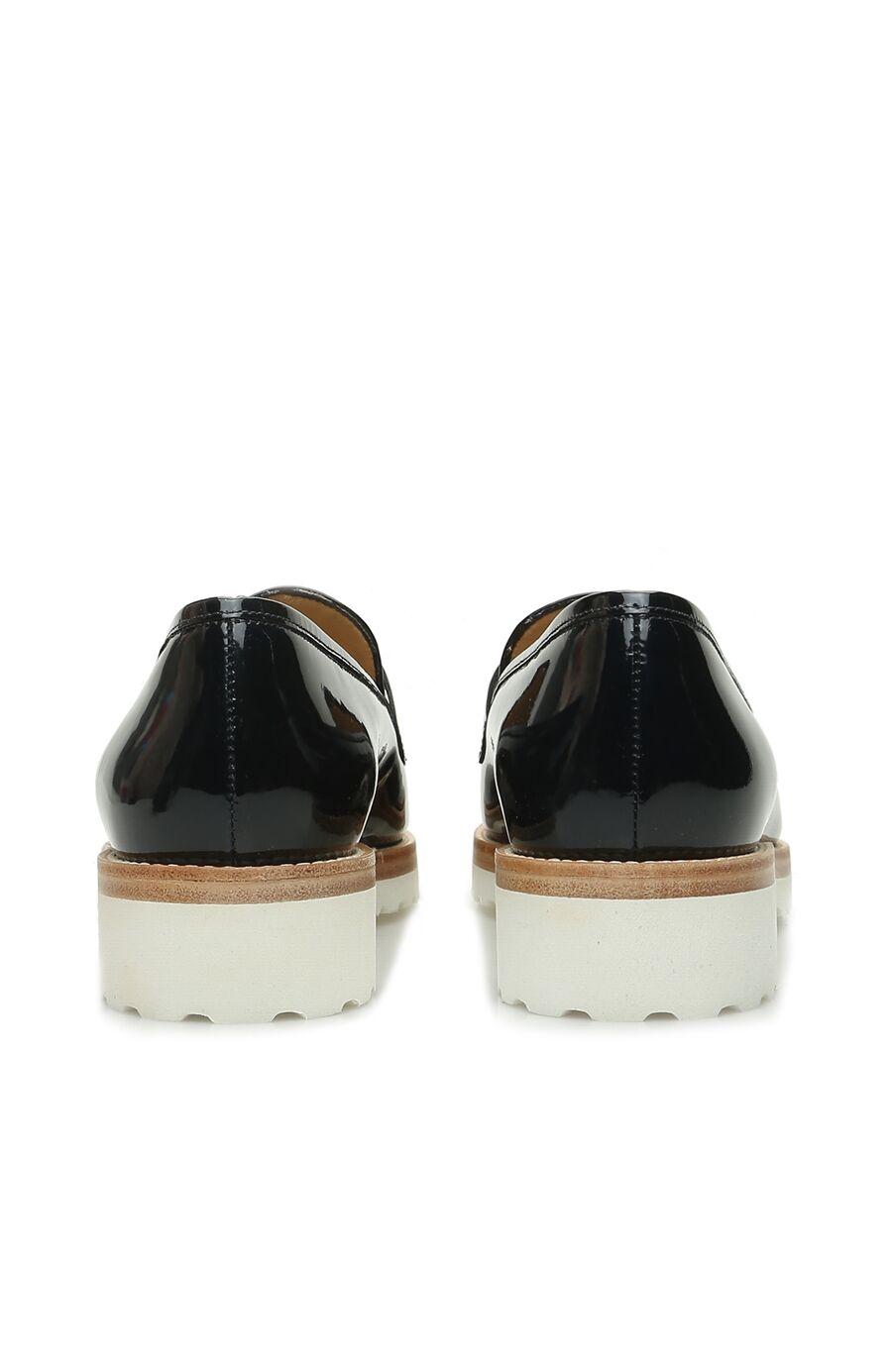 Lacivert Zincir Bantlı Kadın Deri Ayakkabı