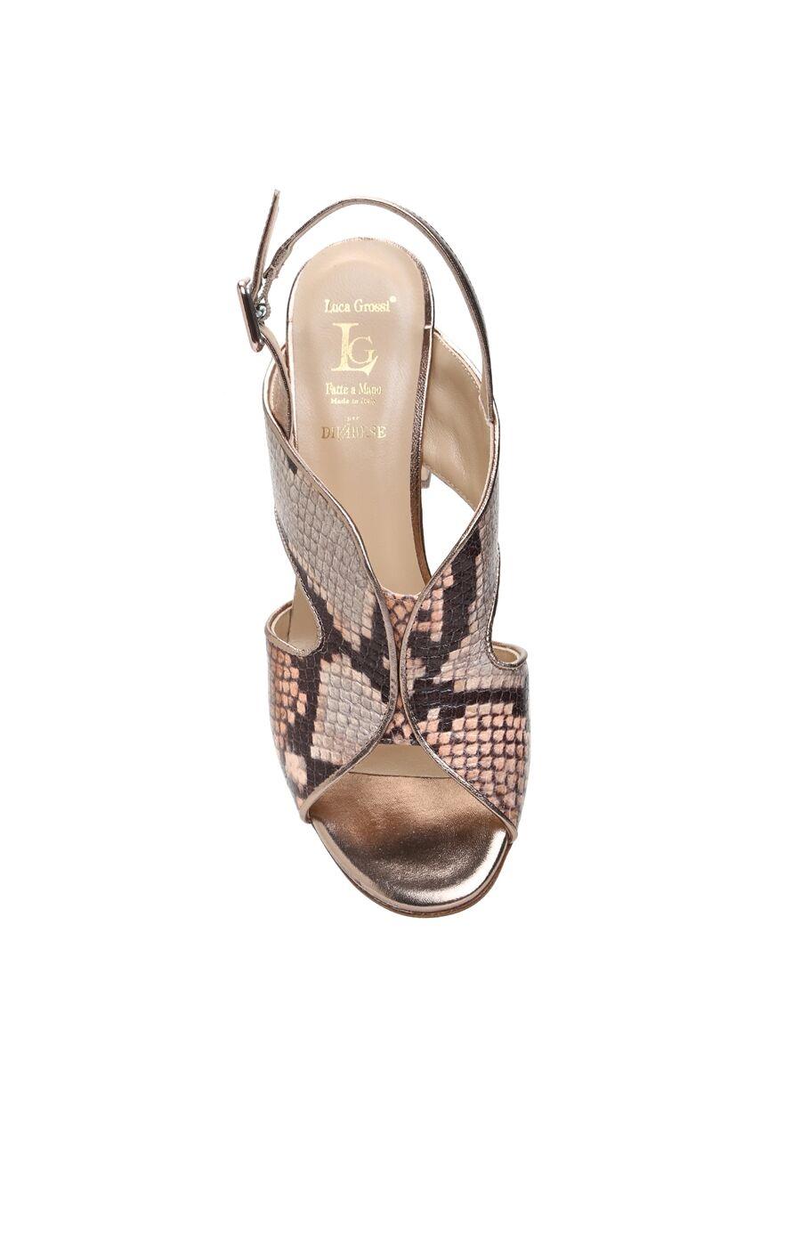 Yılan Baskı Vizon Kadın Sandalet