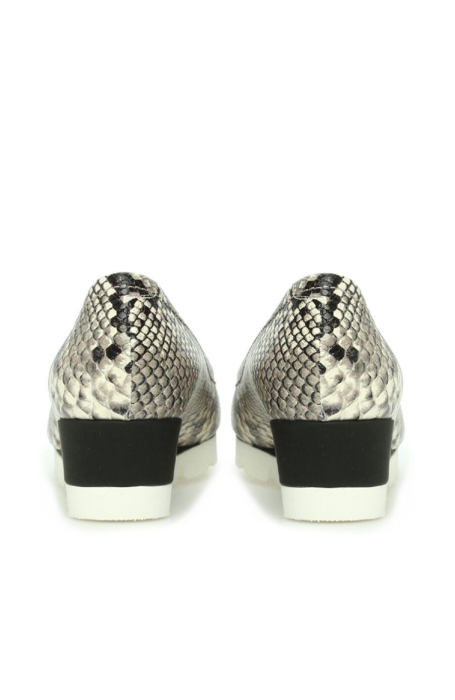 Siyah Krokodil Dokulu Kadın DEri Ayakkabı