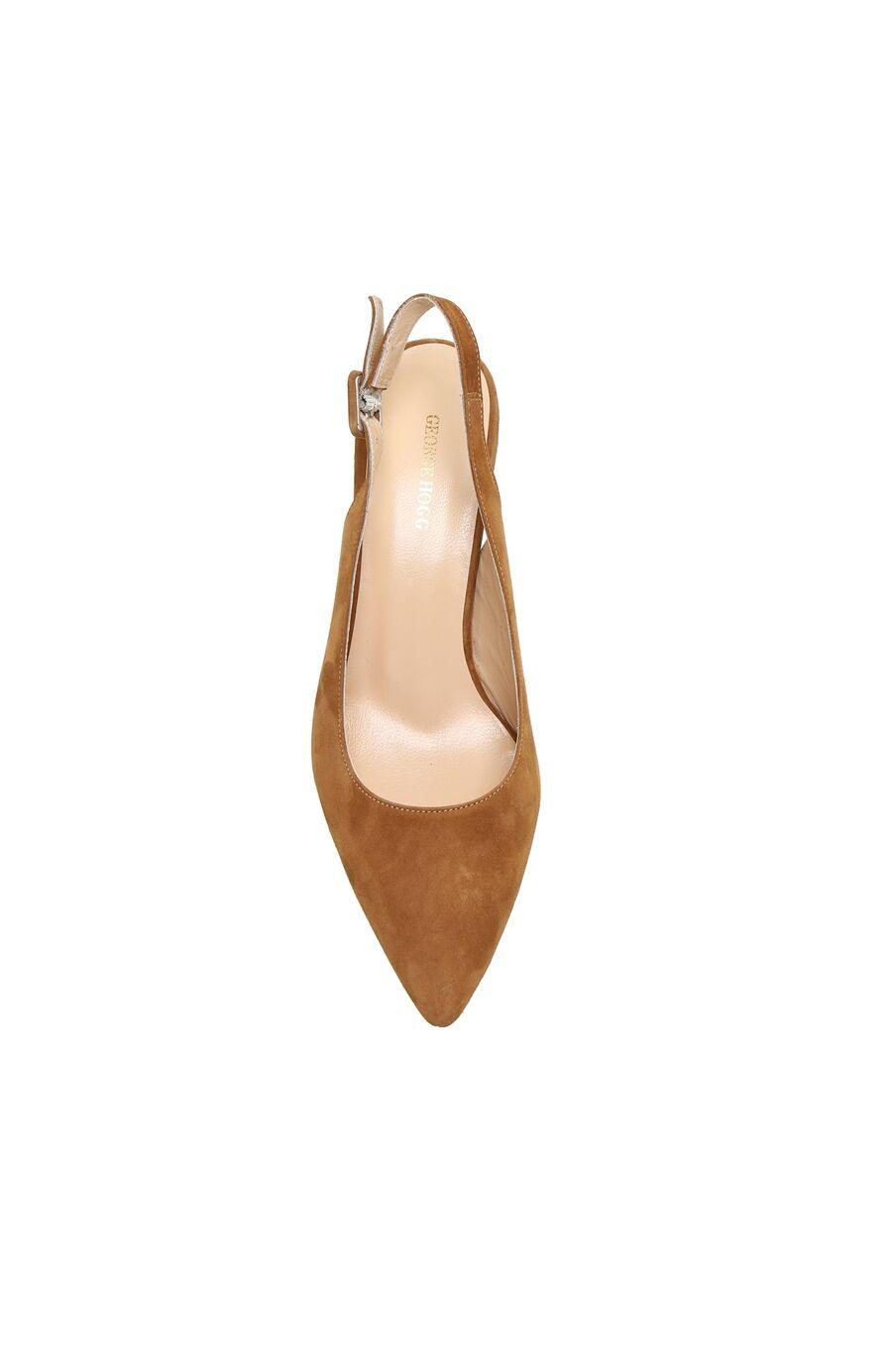 Camel Kemer Detaylı Süet Topuklu Kadın Ayakkabı