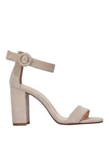 Bej Süet Kadın Sandalet
