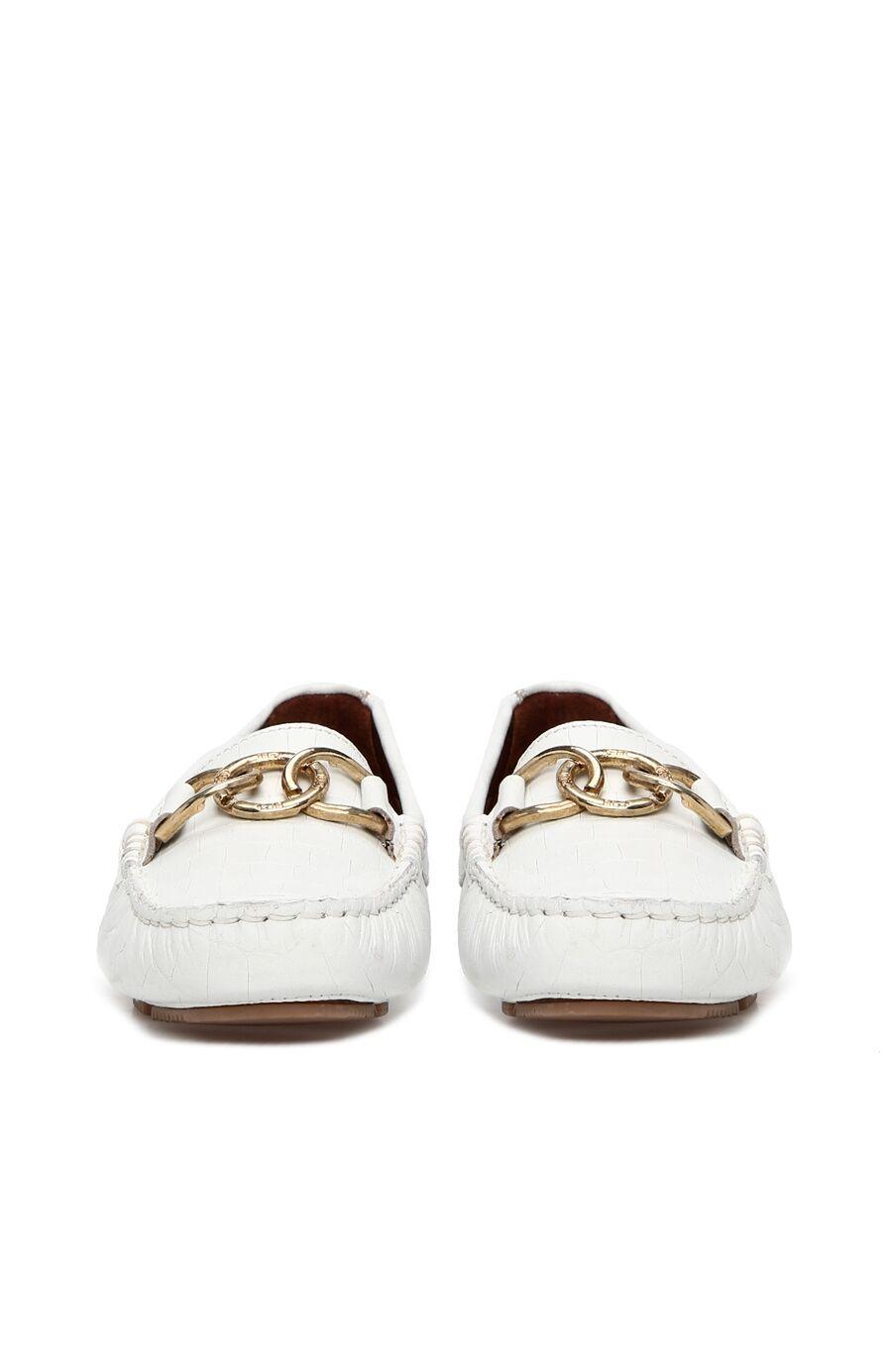 Kroko Beyaz Kadın Loafer