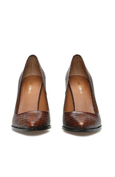 Taba Krokodil Dokulu Deri Kadın Stiletto