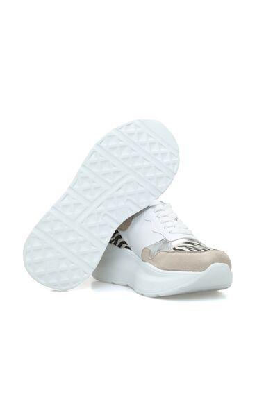 Zebra Bej Kadın Sneaker