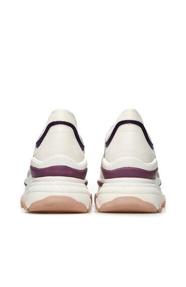 Beyaz Pembe Kadın Sneaker