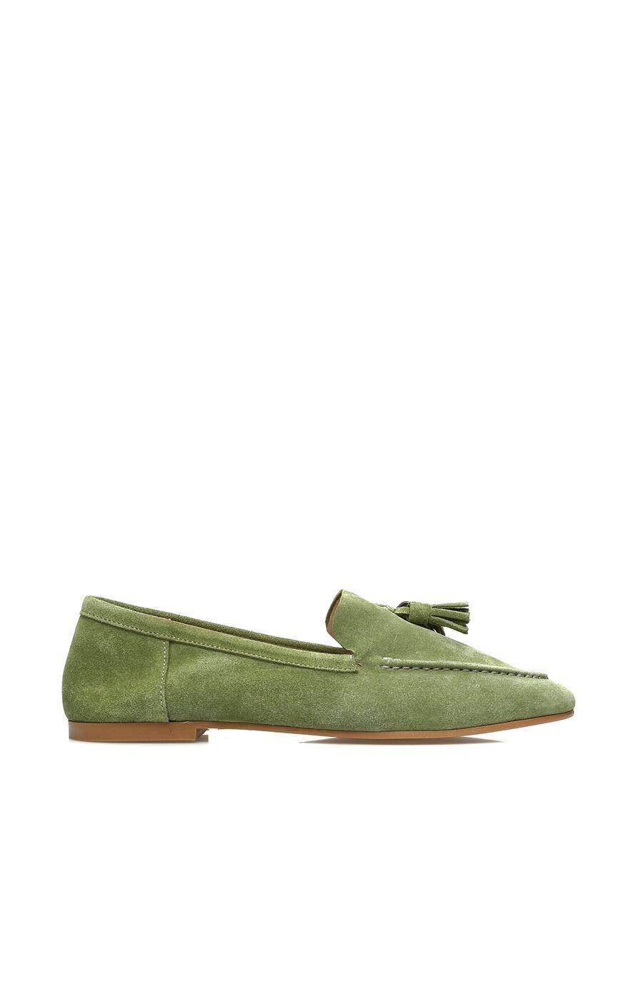 Açık Yeşil Süet Kadın Loafer