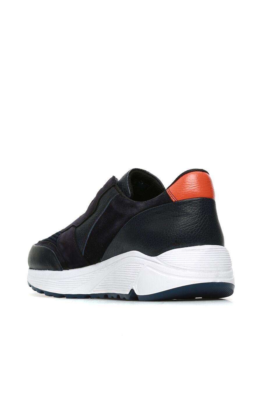 Lacivert File Garnili Deri Erkek Sneaker