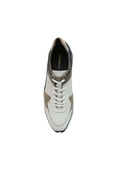 Colorblocked Logolu Erkek Süet Sneaker