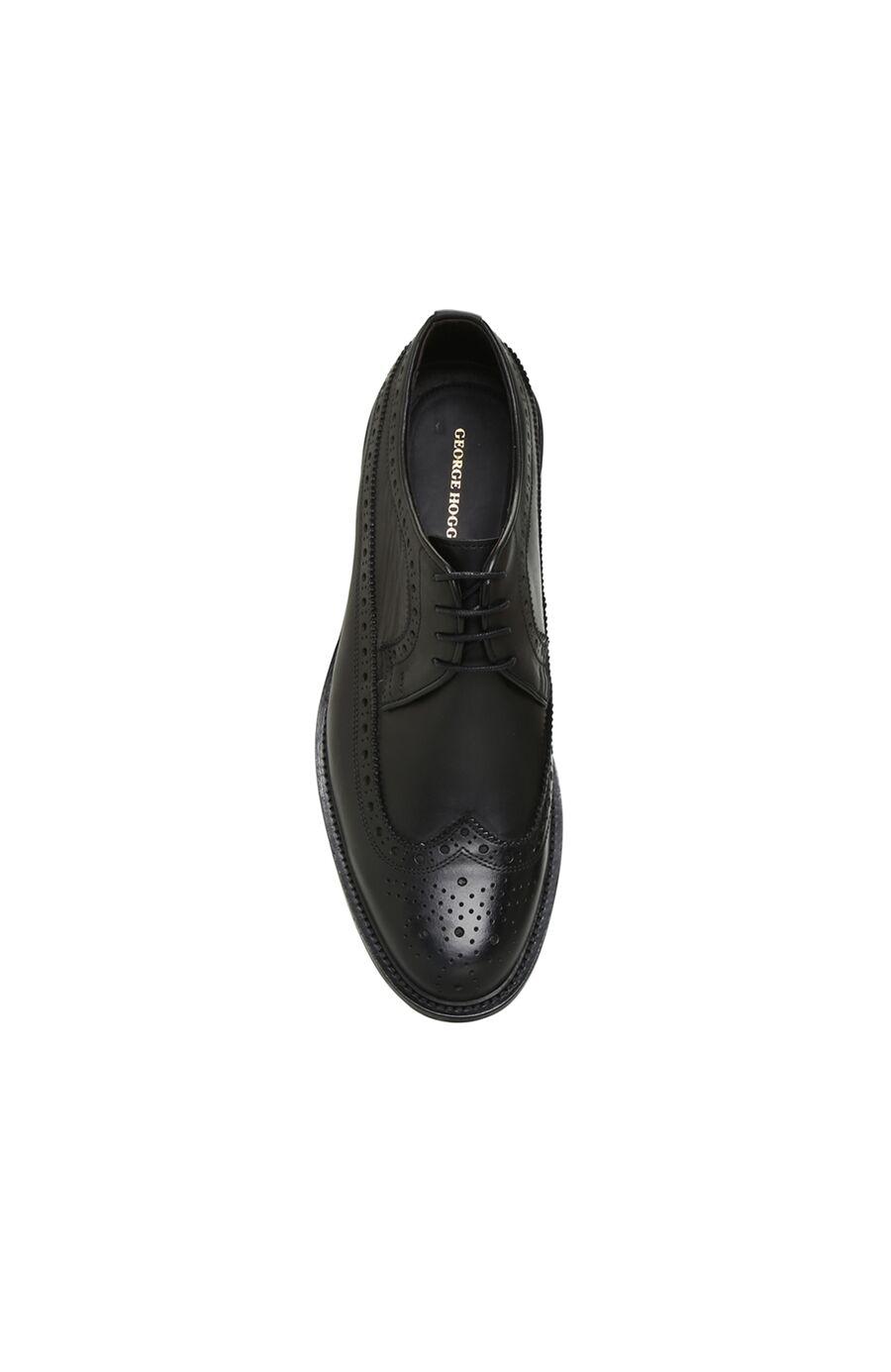Siyah Delik Desenli Erkek Deri Ayakkabı
