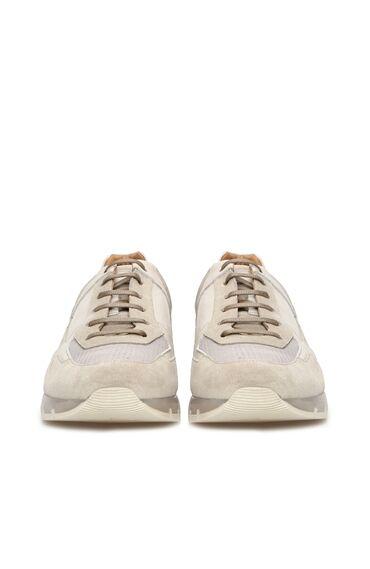 Bej Nubuk Sneaker