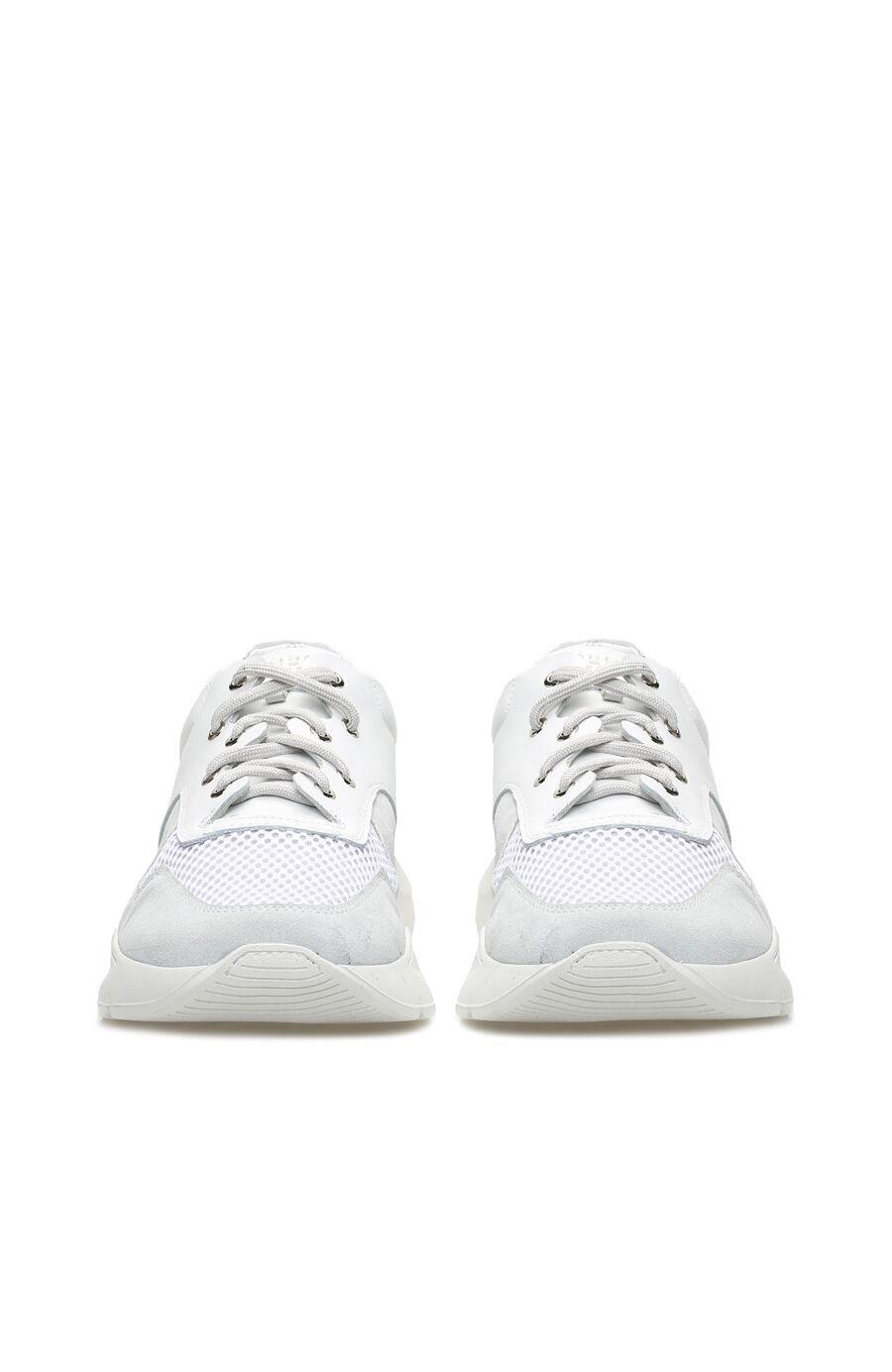 Beyaz Süet Erkek Sneaker