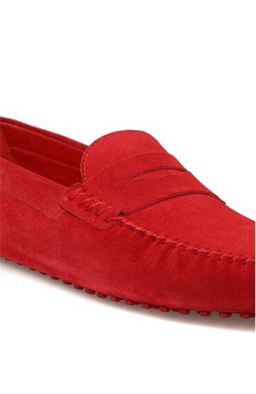 Kırmızı Süet Erkek Loafer
