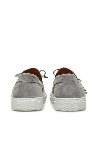 Gri Süet Erkek Loafer