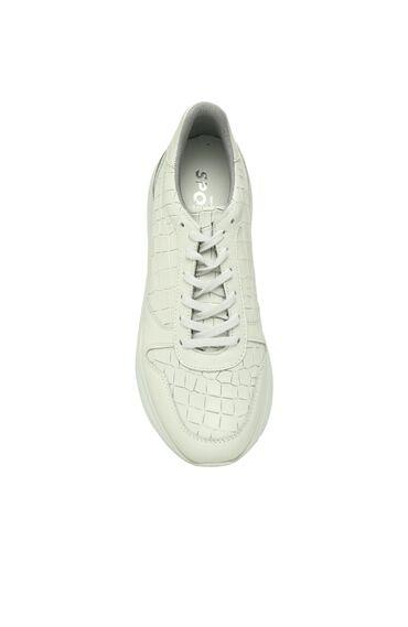 Kroko Beyaz Sneaker