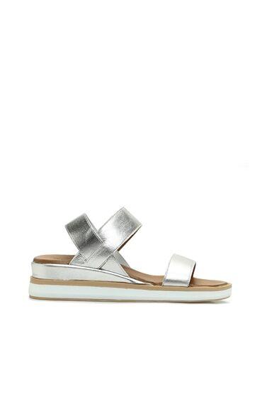 Gümüş Rengi Kadın Sandalet