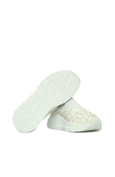 Taşlı Beyaz Kadın Ayakkabı