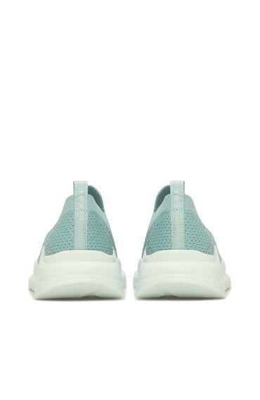 Taşlı Mint Yeşili Kadın Ayakkabı