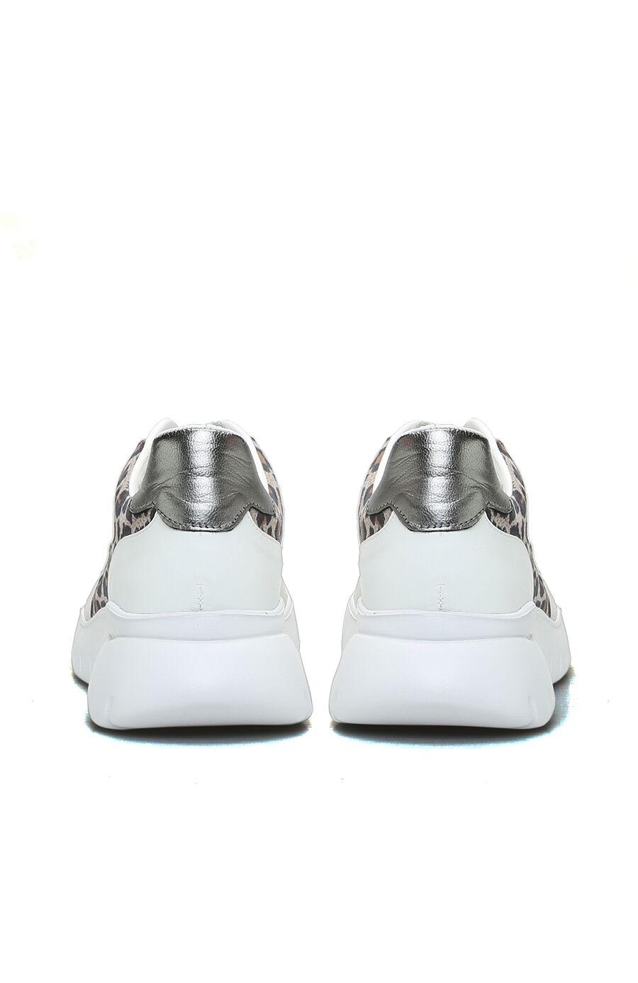 Leopar Beyaz Gri Kadın Sneaker