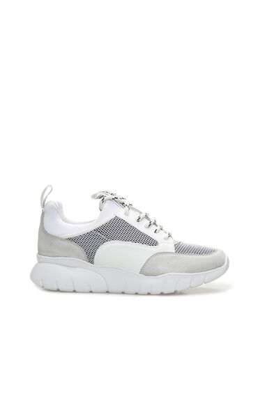 Beyaz File Garnili Kadın Sneaker