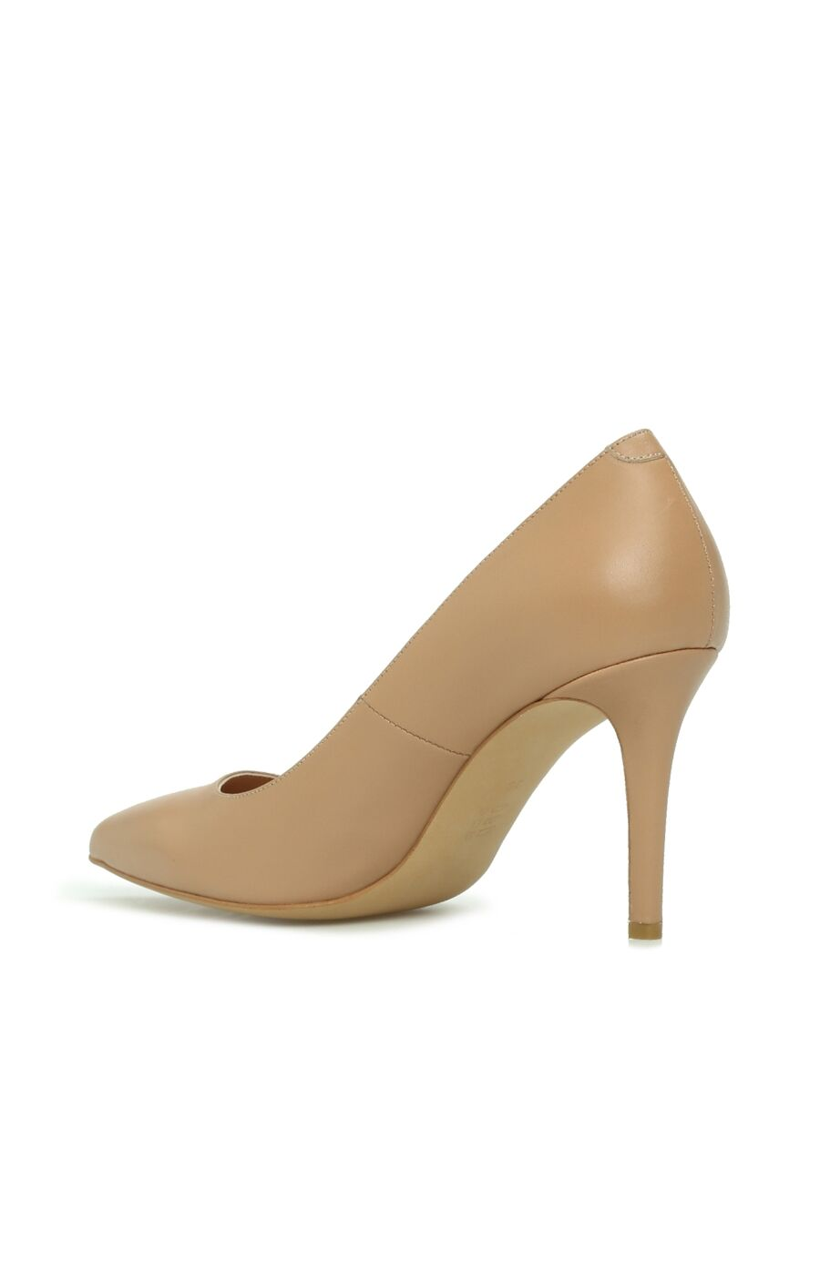 Kadın Stiletto Pudra Deri Kadın Stiletto