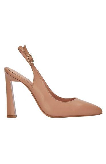 Nude Kalın Topuklu Kadın Stiletto