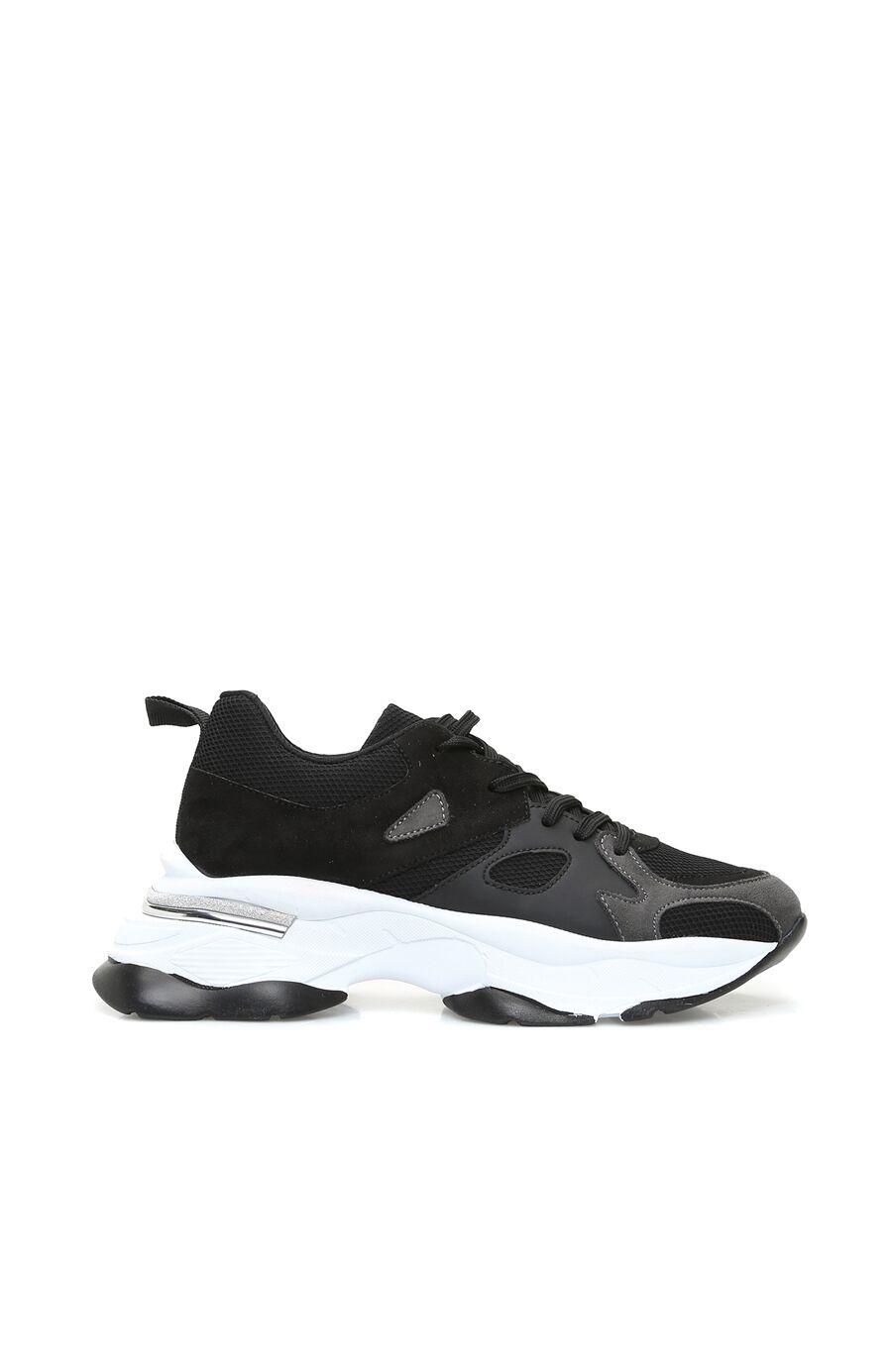 Siyah Kalın Tabanlı Kadın Sneaker