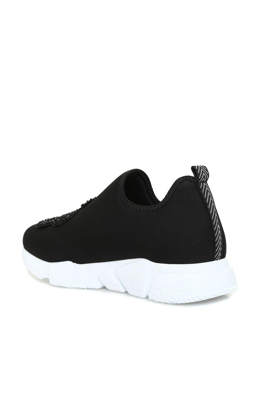 Siyah Kelebek İşlemeli Kadın Sneaker