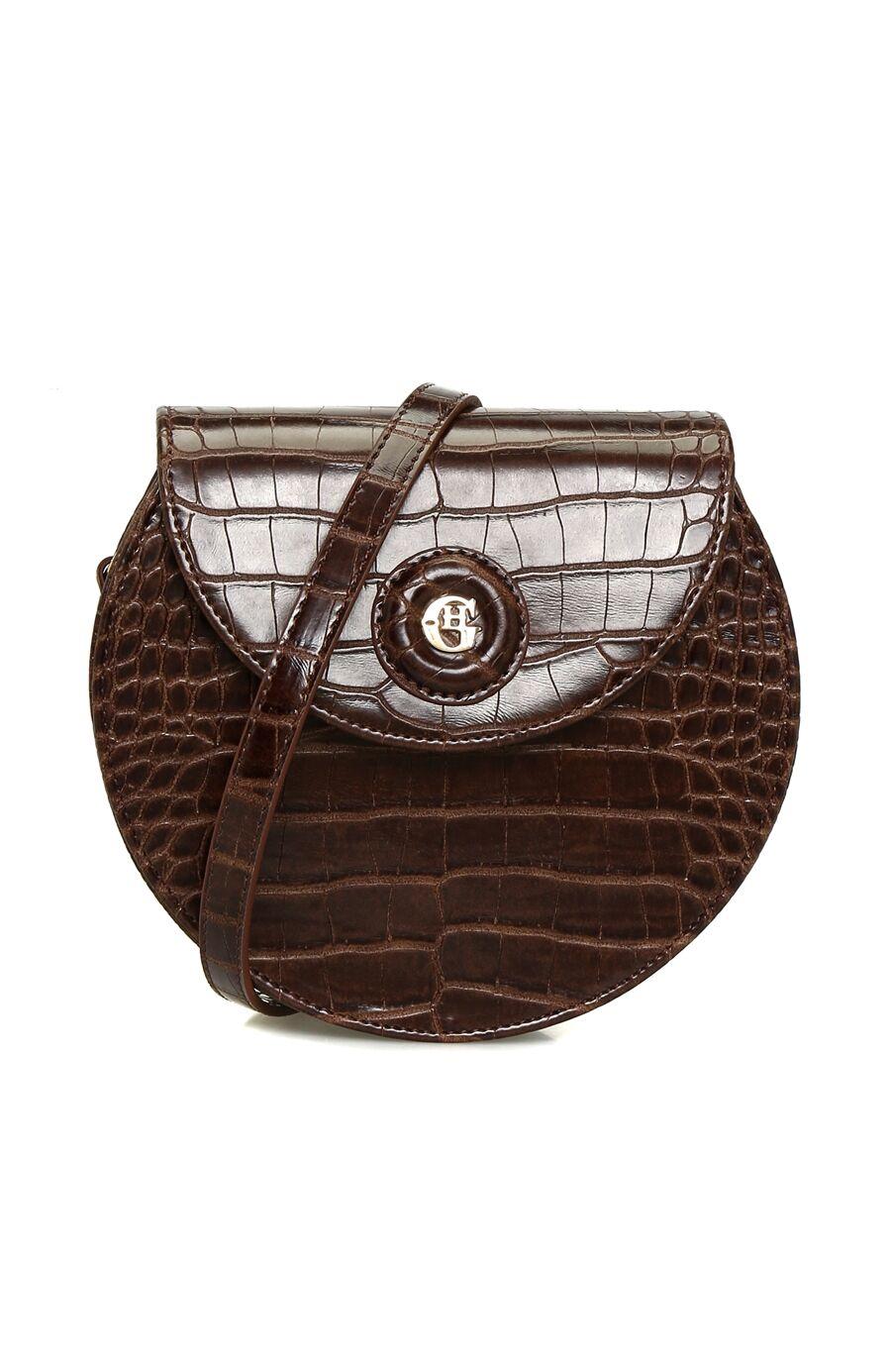 Kroko Kahverengi Kadın Postacı Çantası